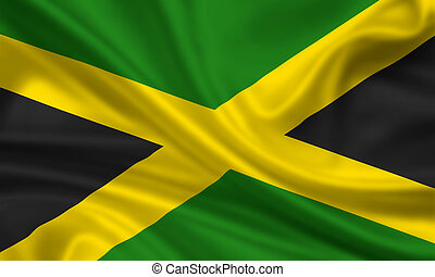 Jamaica - waving flag of jamaica