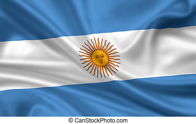 Argentina - waving flag of argentina