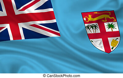Fiji - waving flag of fiji