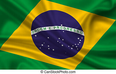 Brazil - waving flag of brazil
