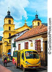 Bus in the Center of Bogota