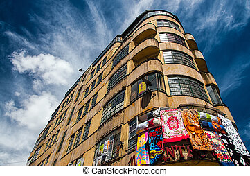 Downtown Bogota - A building in downtown Bogota with a deep...