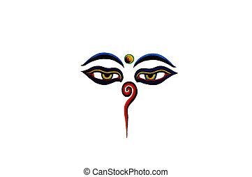 Buddha eyes isolated on a white background