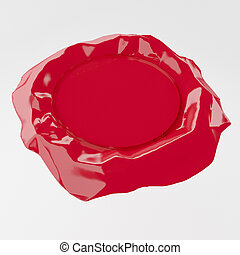 red wax seal stamp - isolated red wax seal, 3d rendering