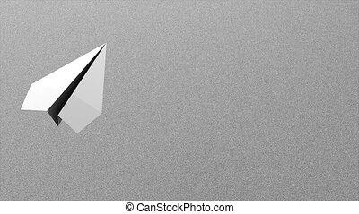 Paper plane - 3d paper plane animation