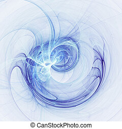 blue chaos - abstract chaos blue rays technology on white...