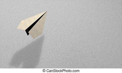 Paper plane - 3d paper plane animation.