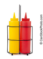 mustard and catsup bottle