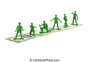 toy soldiers on a dollar - Toy Soldiers standing on a dollar...