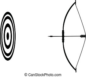 Bow and arrow and the target