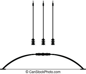 Bow and arrow with Teteven. vector icon