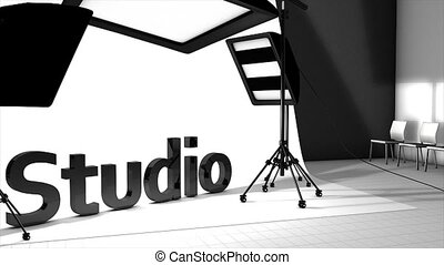 Photography studio - Concept animation, Photography studio.
