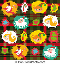 Christmas tartan, plaid pattern background