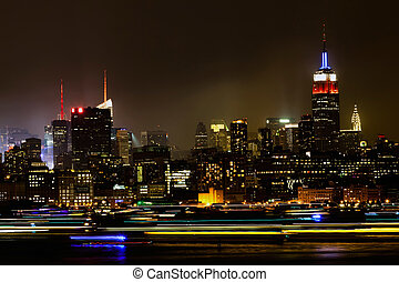 Midtown Manhattan at night - Midtown Manhattan on the...
