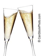 champaña, Flautas, brindar