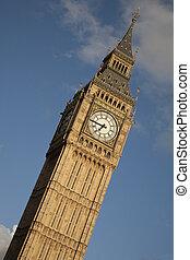Big Ben; London; England on Tilted Angle