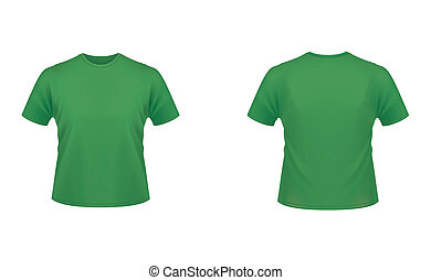 green t-shirt isolated on white