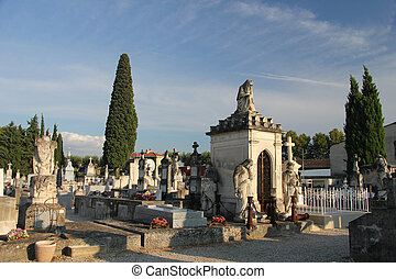 Cemetary in France - Old cemetary in the Provence, Southern...