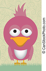 illustration of cute bird, in pastel colors, vector...