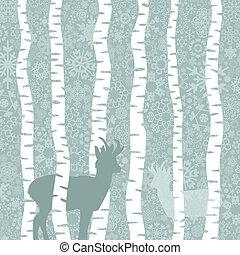 Deer in wood2