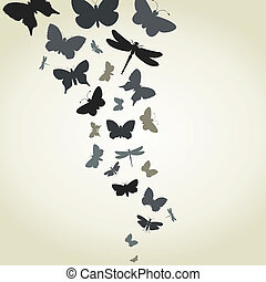 Flight of butterflies - The flight of butterflies flies. A...