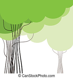 Wood6 - Green crone of a tree A vector illustration
