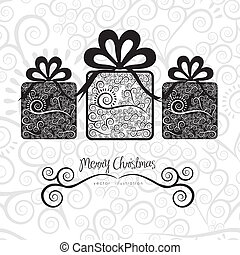 Christmas gifts - Christmas gifs illustration with...