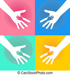 Helping Hands Charity - Illustration of Helping Hand of...