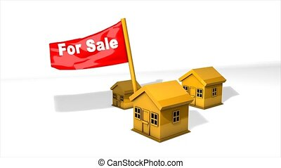 Property for sale - Concept animation, property for sale.