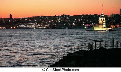 istanbul night - Istanbul at the night pan shoot