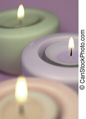 three_candles - Three calming aromatherapy candles with...