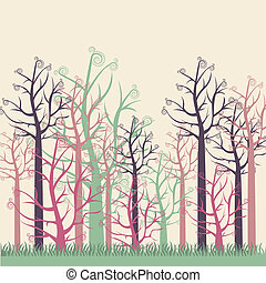 illustrations of colors trees