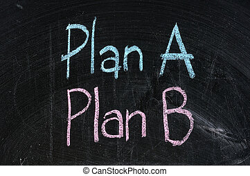 plan b strategy option alternative planning business symbol...