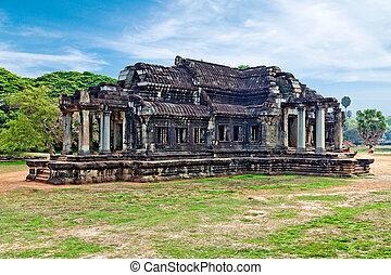 Ancient Library. Angkor Wat. Cambodia.