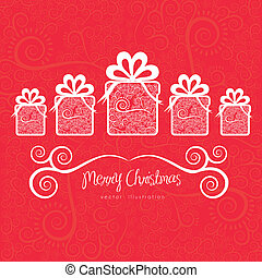 Christmas gifs - Christmas gifts illustration with...