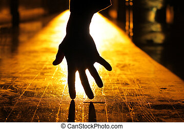 Hand - Concept haunting image of a backlit hand