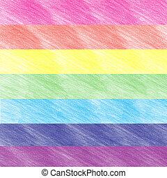 arco íris, cores, fundo