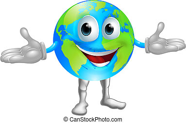 World globe character