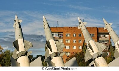 S-125 Surface-to-Air Missile - clouds over S-125...
