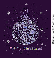 Christmas ball in cartoon style