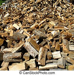 large woodpile
