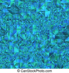 Blue crystal patten. Seamless background.