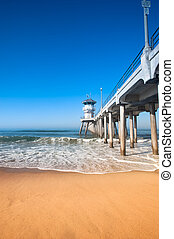 Huntington Beach Pier - Colorful image of the Huntington...