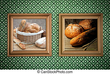 Bakery bread frames