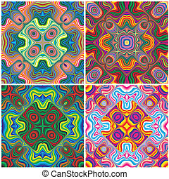 Nordic pattern two - Set of vivid seamless vector patterns...