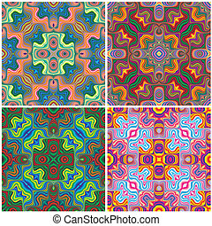 Nordic pattern one - Set of vivid seamless vector patterns...