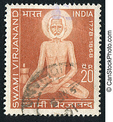 saint Swami Virjanand - INDIA - CIRCA 1971: stamp printed by...