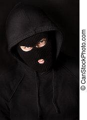 balaclava - evil criminal wearing balaclava