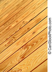 Unpainted Wooden Floor - Abstract Background Texture of...