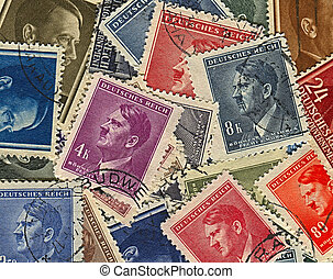 Postage stamps. - GERMANY - CIRCA 1937: A stamps printed in...